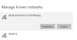 cara menghapus wifi di windows
