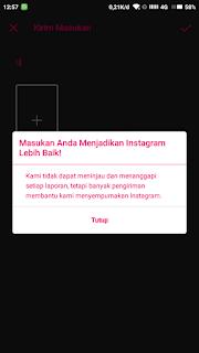 ikon biru di instagram