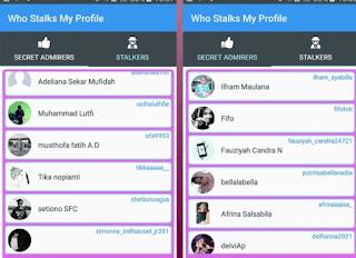 menggunakan apk untuk mengetahui siapa saja stalking instagram kita