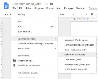 simpan sebagai PDF Google Doc