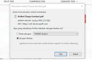 cara membuat file ke pdf