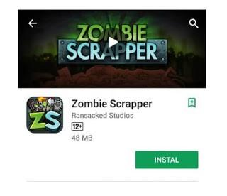 Zombie Scrapper seru banget