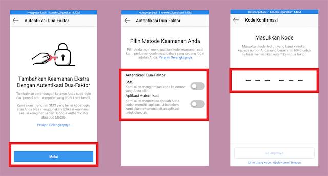 verifikasi melalui aplikasi autentikasi instagram