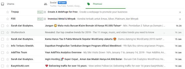buka akun email google