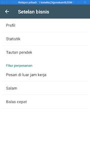 fitur pengaturan whatsapp bisnis