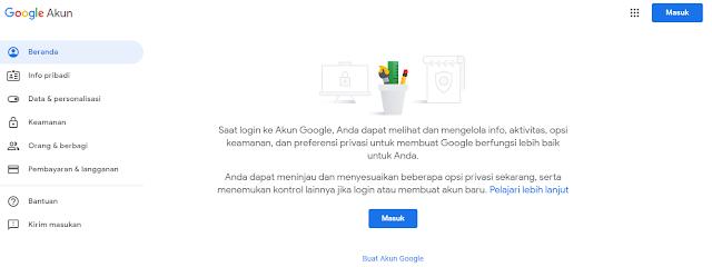 mengganti bahasa inggris gmail ke indonesia