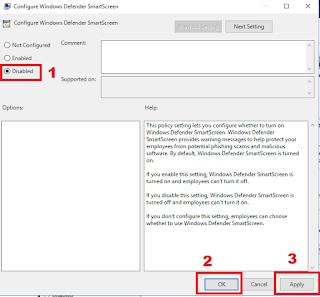 memblokir akses antivirus windows defender