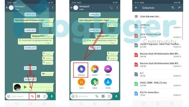 mengirim gambar di whatsapp agar tidak pecah
