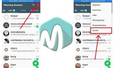 pilih setelan pada aplikasi whatsapp