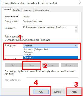 mematikan fungsi delivery optimization