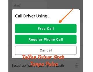menelepon driver grab menggunakan internet