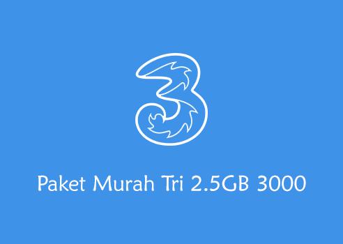 Paket Murah Tri 2.5GB 3000