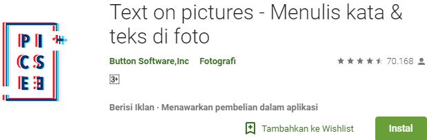 aplikasi edit foto kata kata