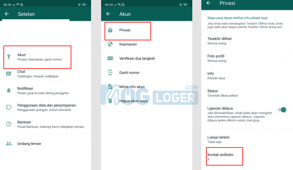 Cara Blokir WA Dari Aplikasi