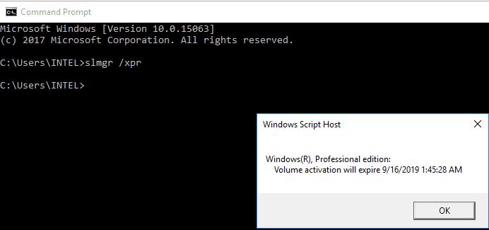 Cek Aktivasi Windows 10 via CMD