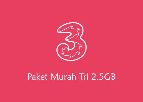 Paket Kuota Murah Three 2.5 GB Harga 2000