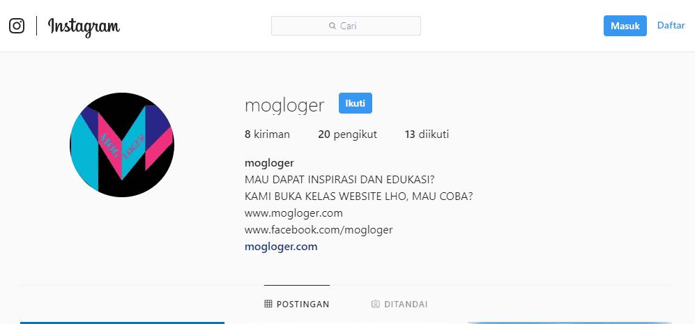 cara membuka foto profil instagram
