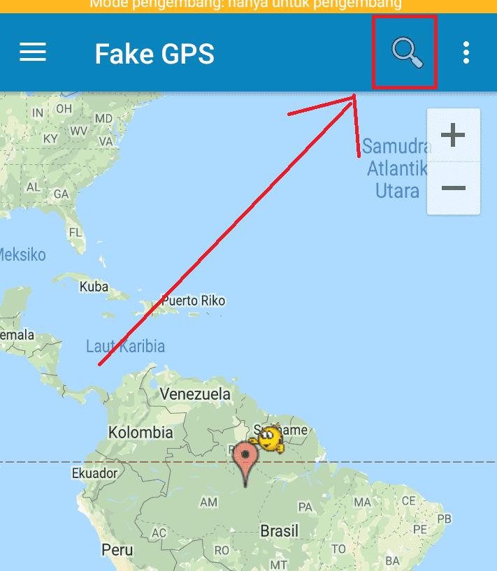 mencari llocation fake di aplikasi