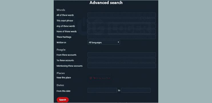 Advanced Search di twitter