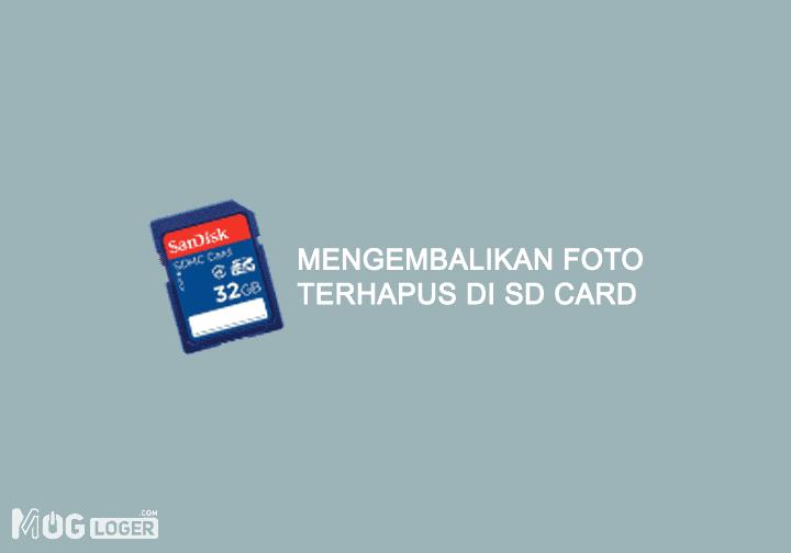 cara mengembalikan data yang terhapus di memory card