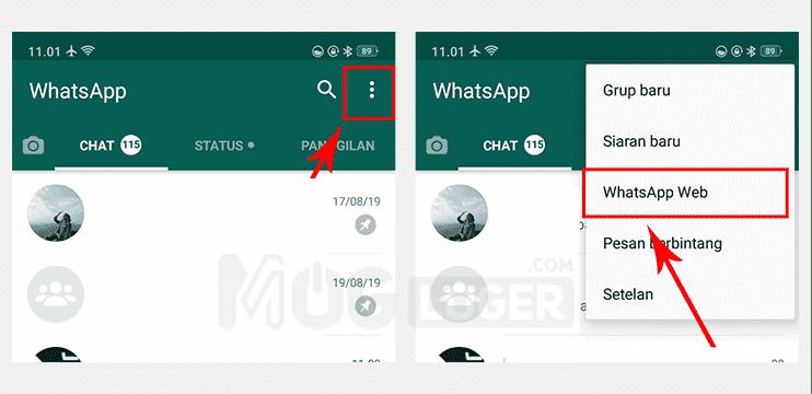 logout wa web di android