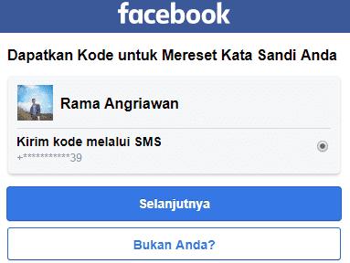 kode sms fb
