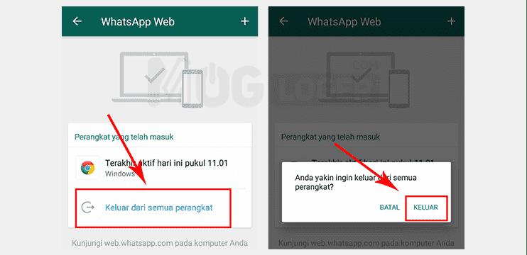 logout whatsapp web di ponsel