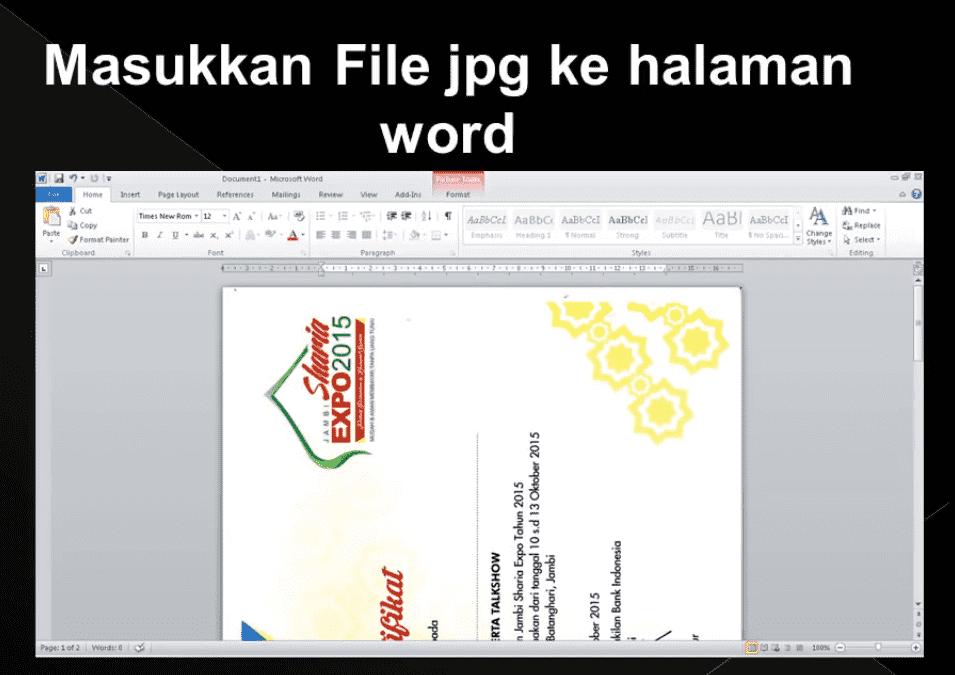 masukkan file gambar ke halaman word