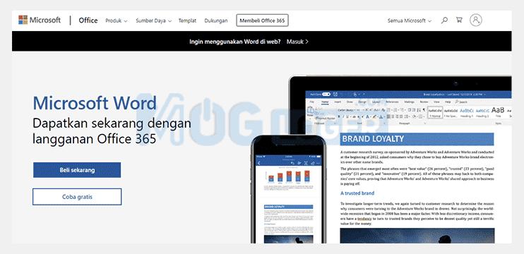 aplikasi word