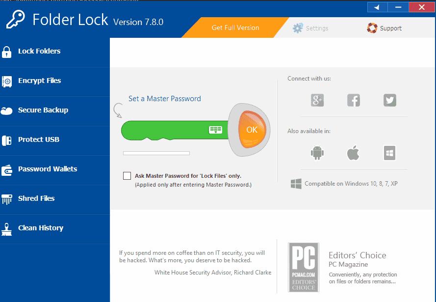 buka folder lock di windows