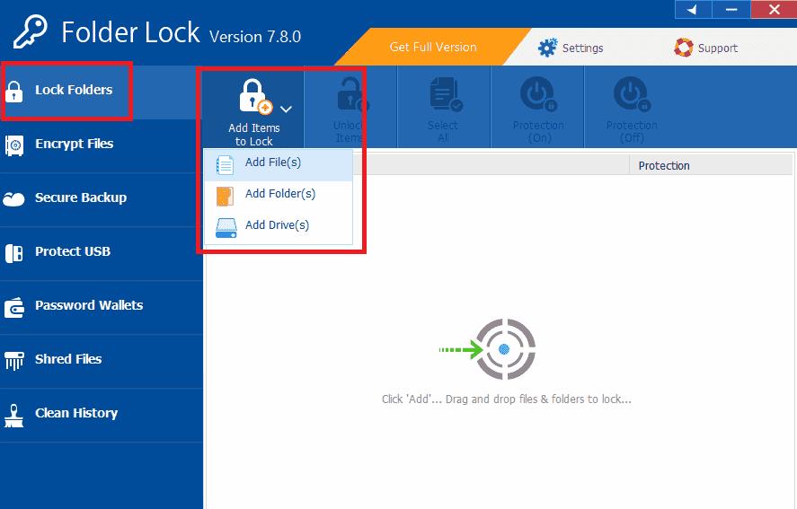 tambah item untuk di kunci