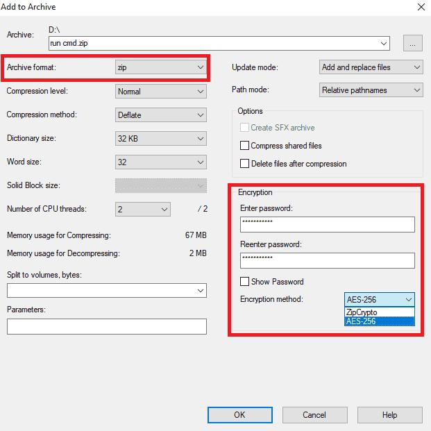 add to archive di windows