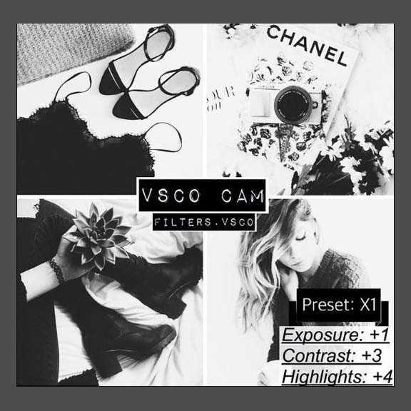 black and white tone vsco