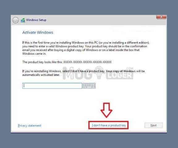 input product key windows