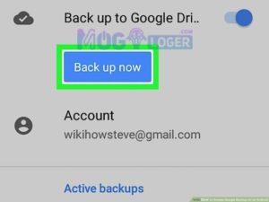 backup now akun google