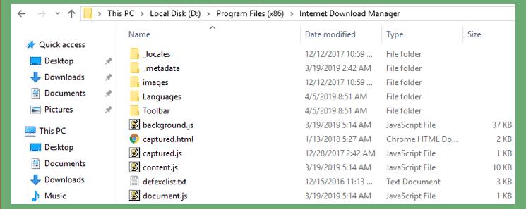 folder Instalasi IDM