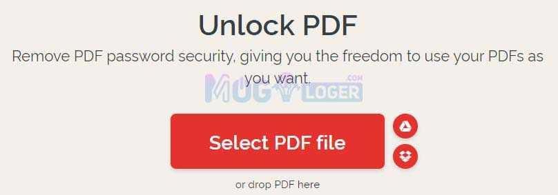 unlock pdf menggunakan situs ilovepdf