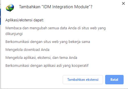 tambahkan IDM Integration Module