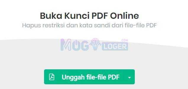 buka kunci pdf online menggunakan sejda