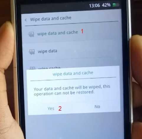 wipe cache di android