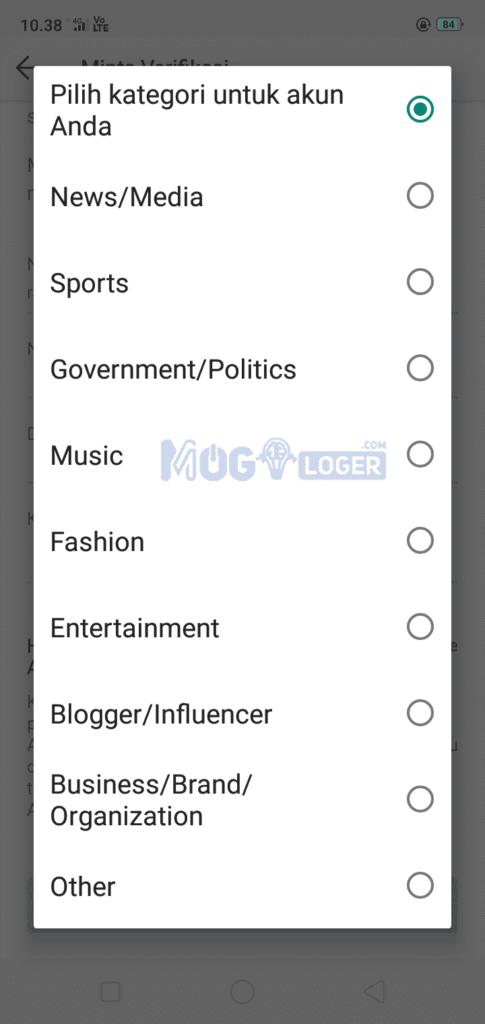 8 kategori wajib