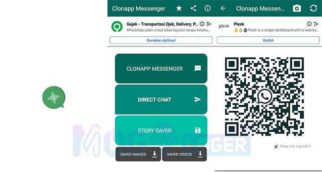 cara menggunakan cloneapp messenger untuk wa web
