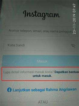 bantuan instagram