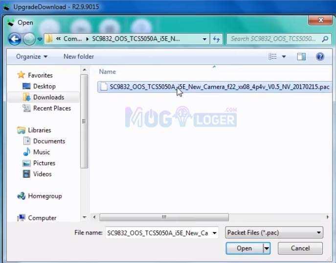 buka folder firmware advan i5e