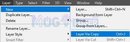 layer via copy supaya menjadi grid kolase