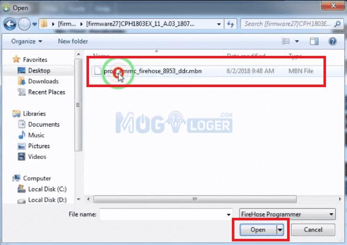mencari folder firmware oppo a3s