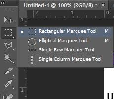 pilih menu rectangular marquee tool di photoshop
