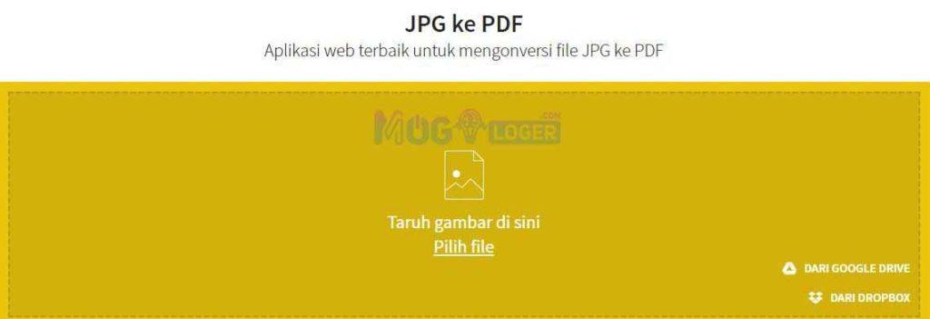 menggunakan smallpdf untuk mengubah jpg ke pdf