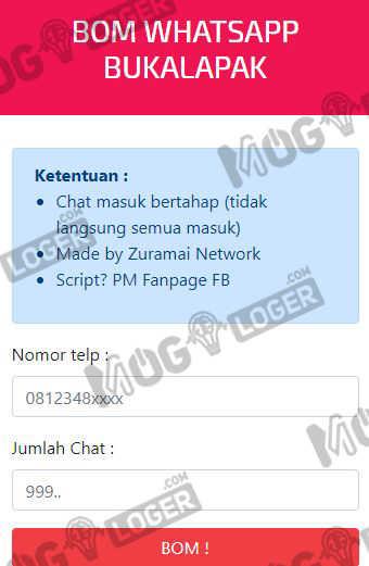 bom whatsapp via online