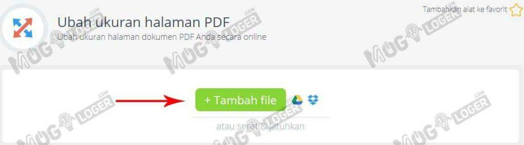tambah file di pdfcandy
